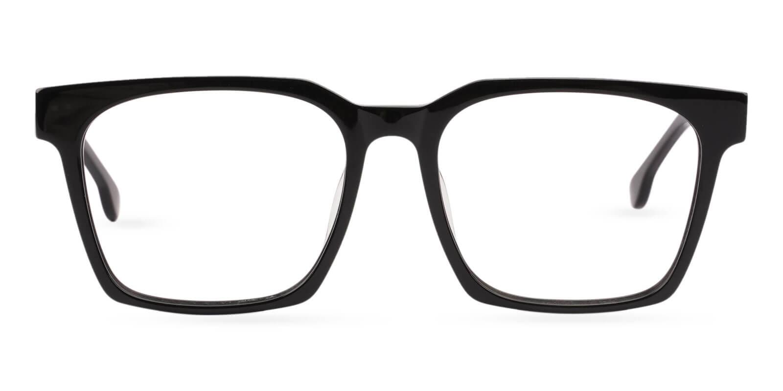 Gilbert Black Acetate Eyeglasses , UniversalBridgeFit Frames from ABBE Glasses
