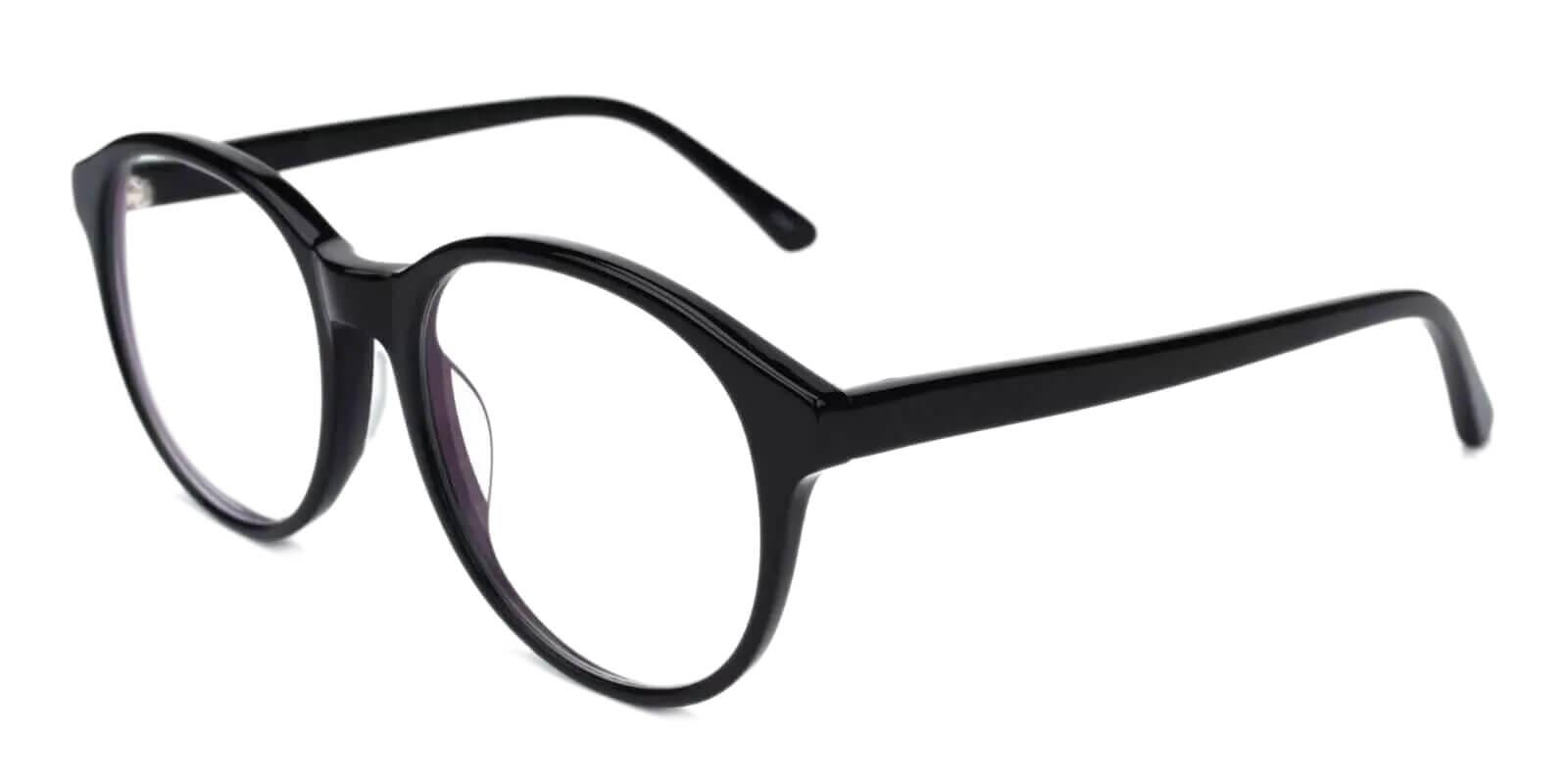 Masontown Black Acetate Eyeglasses , UniversalBridgeFit Frames from ABBE Glasses