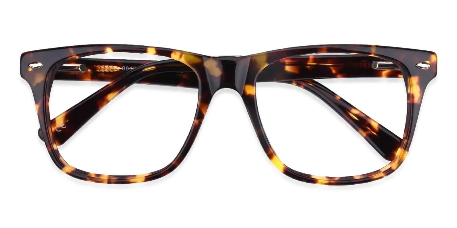 Montalvo Tortoise Acetate Eyeglasses , SpringHinges , UniversalBridgeFit Frames from ABBE Glasses
