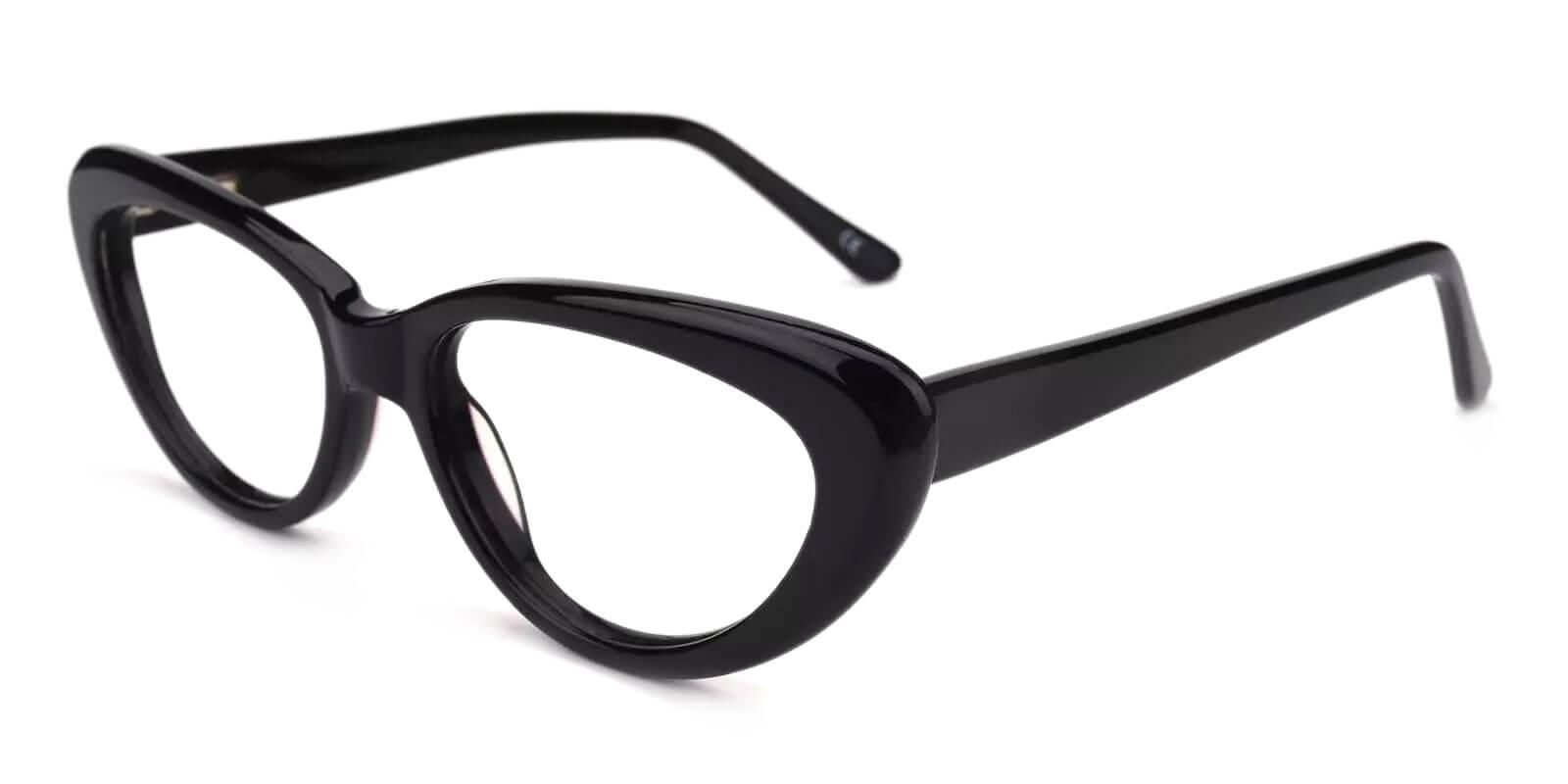 Stella Black Acetate Eyeglasses , SpringHinges , UniversalBridgeFit Frames from ABBE Glasses