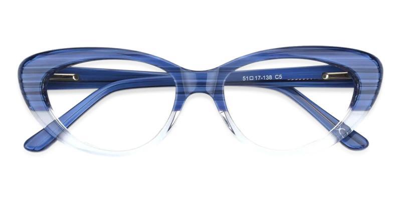 Blue Stella - Acetate Eyeglasses , SpringHinges , UniversalBridgeFit