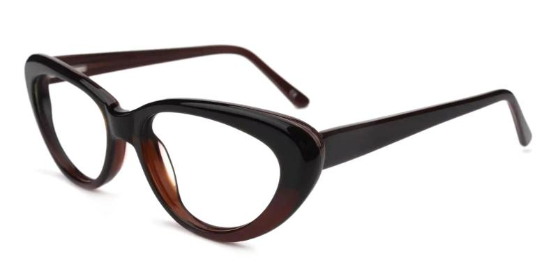 Brown Stella - Acetate ,Universal Bridge Fit