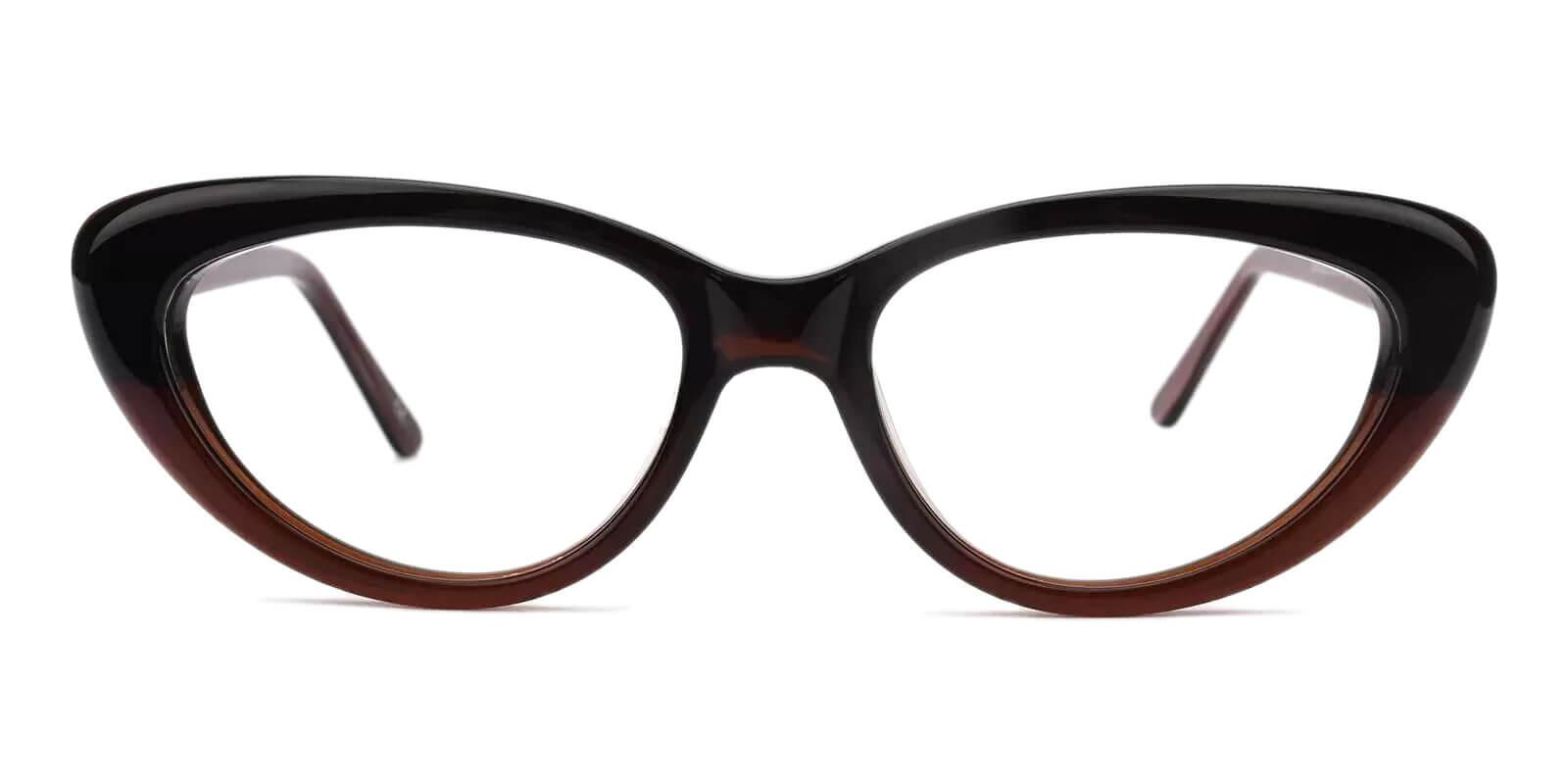 Stella Brown Acetate Eyeglasses , SpringHinges , UniversalBridgeFit Frames from ABBE Glasses
