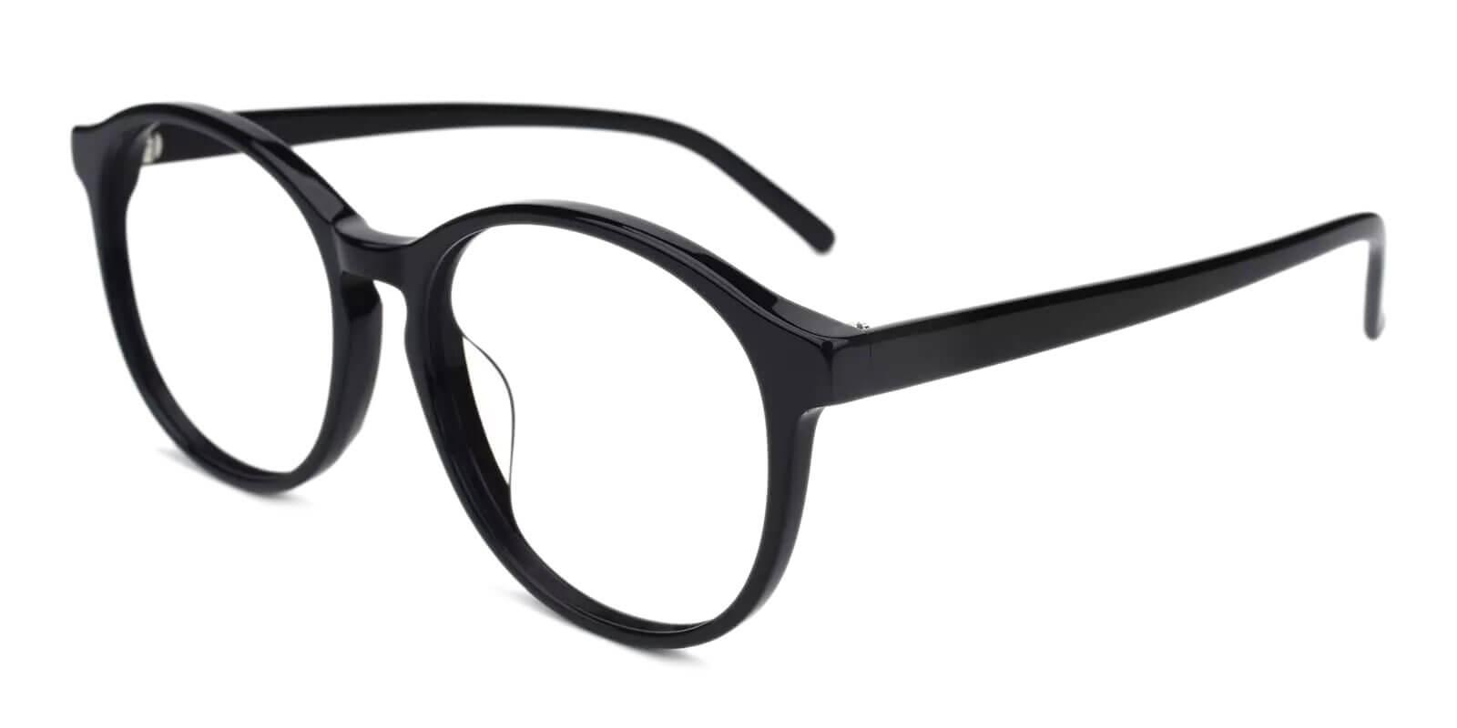 Wasco Black Acetate Eyeglasses , UniversalBridgeFit Frames from ABBE Glasses