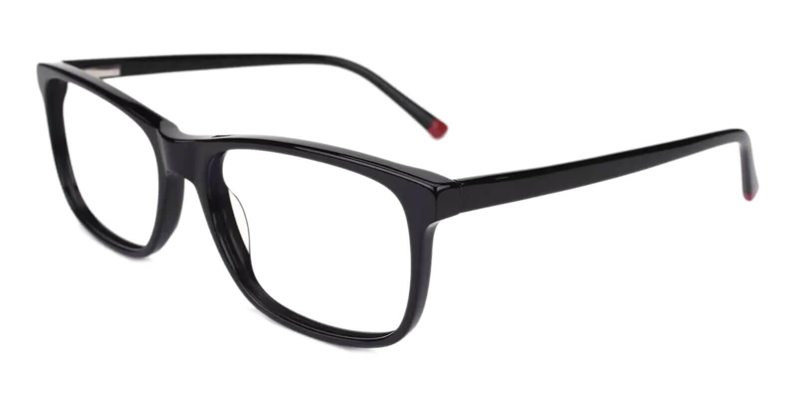 Gilcres Black Acetate Eyeglasses , SpringHinges , UniversalBridgeFit Frames from ABBE Glasses