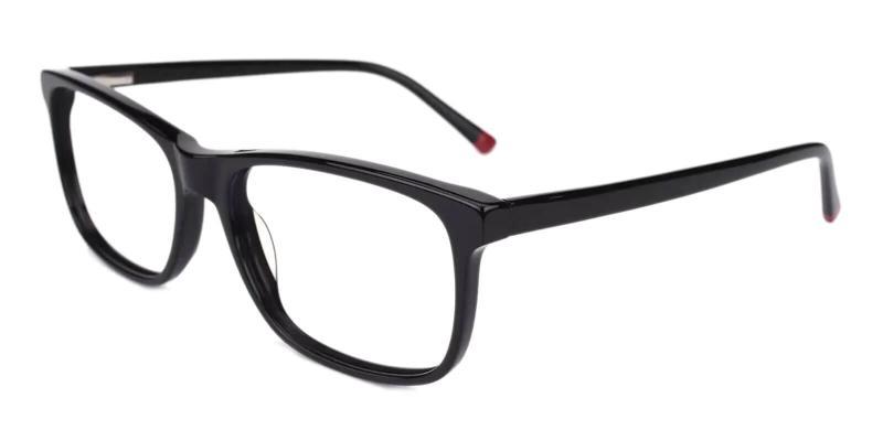 Black Gilcres - Acetate Eyeglasses , SpringHinges , UniversalBridgeFit