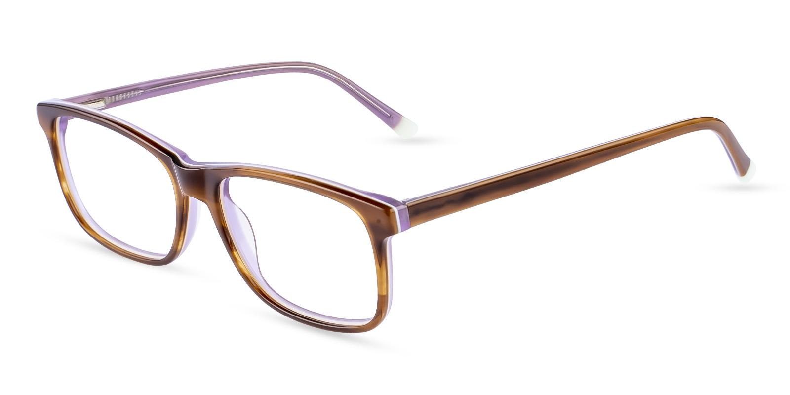 Gilcres Brown Acetate Eyeglasses , SpringHinges , UniversalBridgeFit Frames from ABBE Glasses