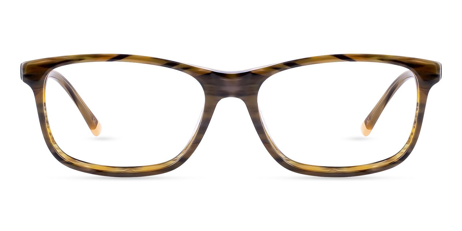 Gilcres Striped Acetate Eyeglasses , SpringHinges , UniversalBridgeFit Frames from ABBE Glasses