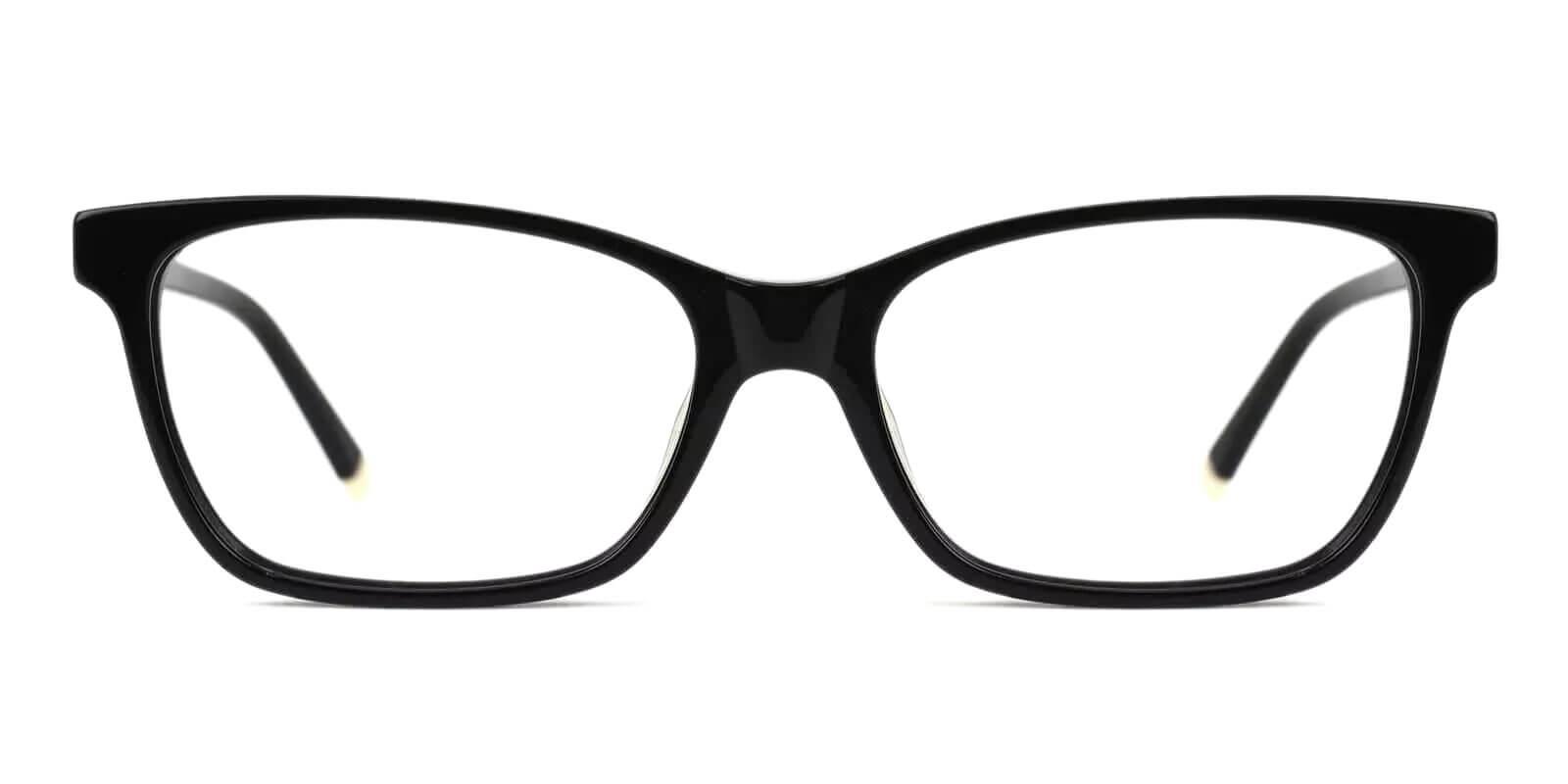 RingGold Black Acetate Eyeglasses , SpringHinges , UniversalBridgeFit Frames from ABBE Glasses