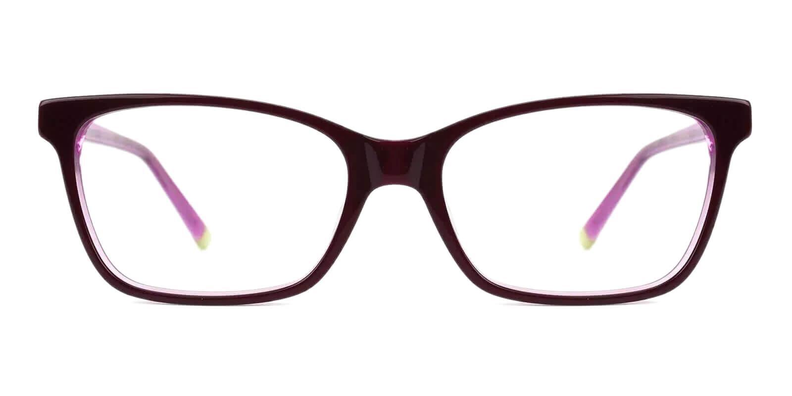 RingGold Purple Acetate Eyeglasses , SpringHinges , UniversalBridgeFit Frames from ABBE Glasses