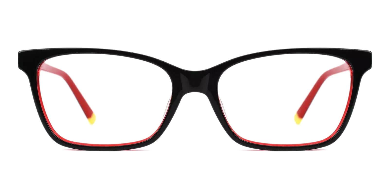 RingGold Red Acetate Eyeglasses , SpringHinges , UniversalBridgeFit Frames from ABBE Glasses