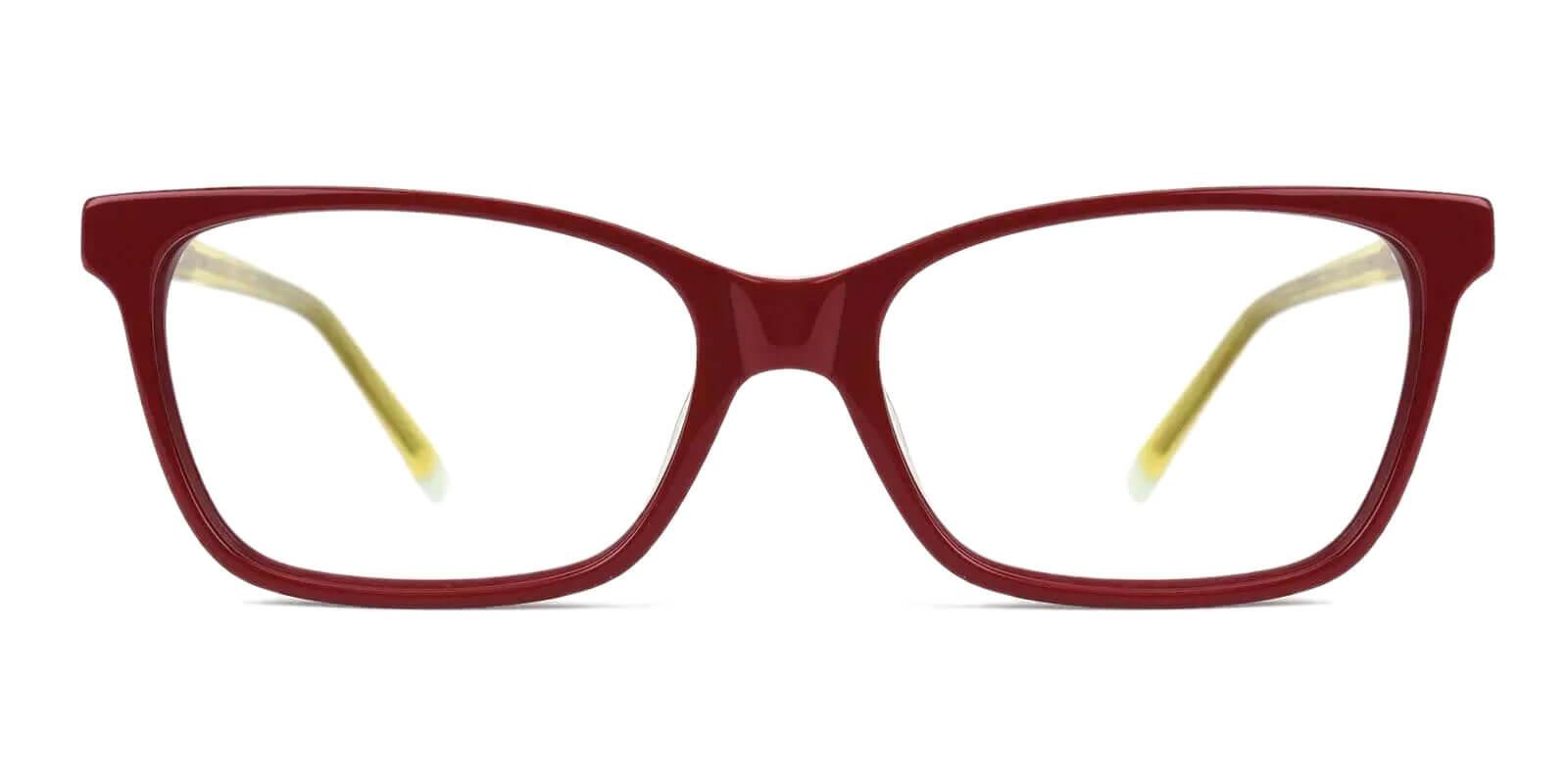 RingGold Yellow Acetate Eyeglasses , SpringHinges , UniversalBridgeFit Frames from ABBE Glasses