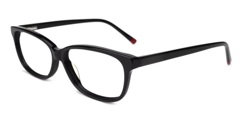 Black Levant - Acetate Eyeglasses , SpringHinges , UniversalBridgeFit