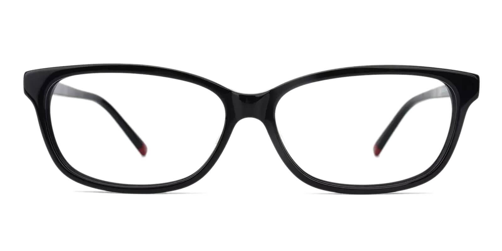 Cyprus Black Acetate Eyeglasses , SpringHinges , UniversalBridgeFit Frames from ABBE Glasses