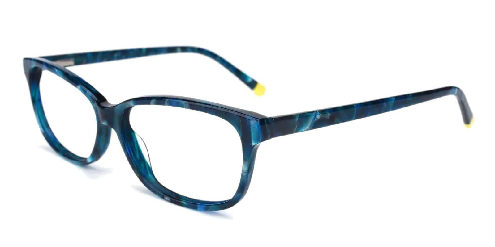 Levant Blue Acetate Eyeglasses , SpringHinges , UniversalBridgeFit Frames from ABBE Glasses