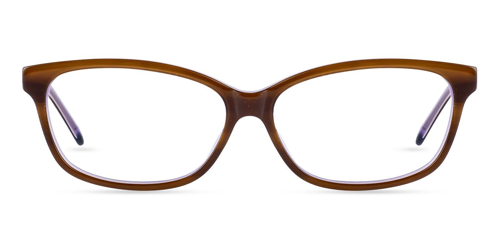 Levant Brown Acetate Eyeglasses , SpringHinges , UniversalBridgeFit Frames from ABBE Glasses