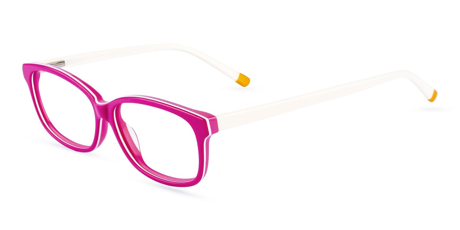 Levant Pink Acetate Eyeglasses , SpringHinges , UniversalBridgeFit Frames from ABBE Glasses