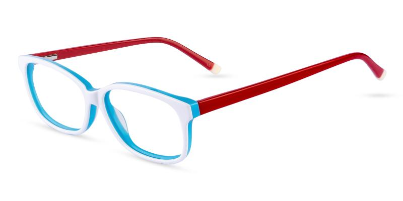 White Levant - Acetate ,Universal Bridge Fit