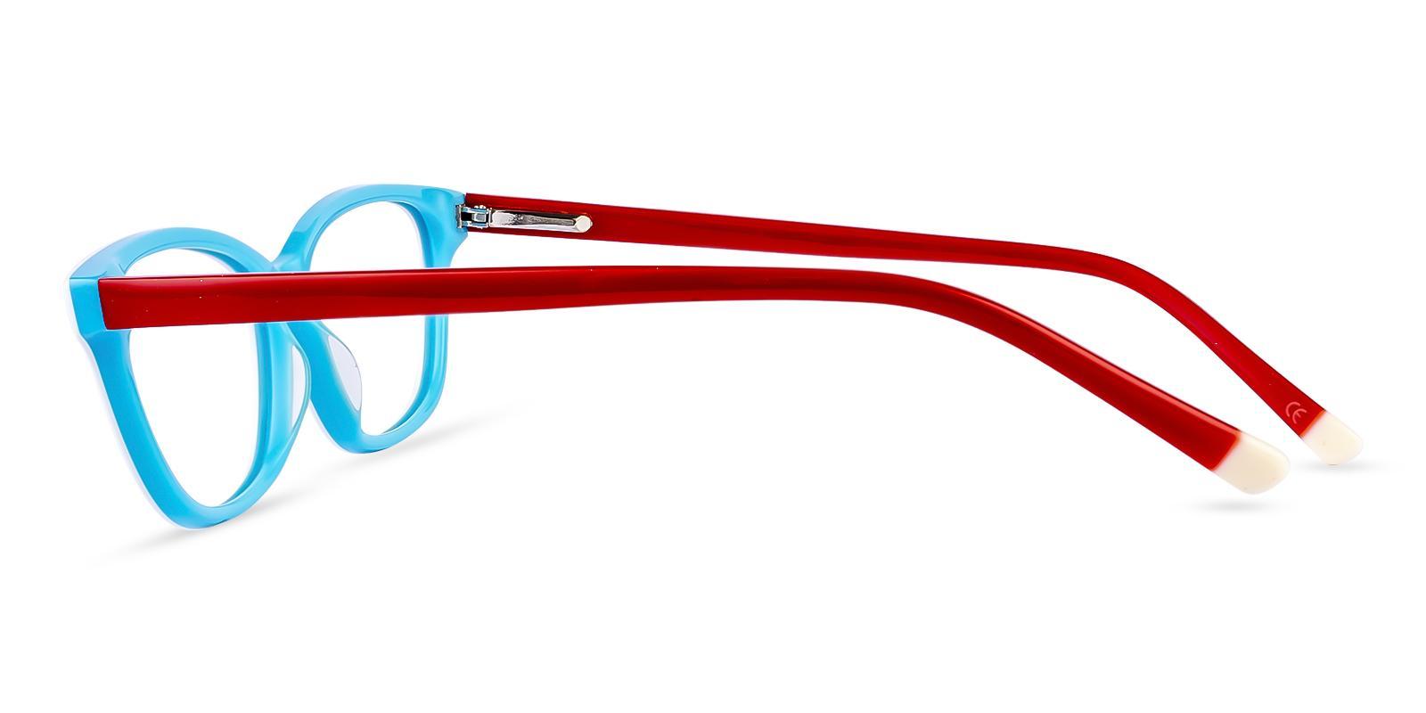 Levant White Acetate Eyeglasses , SpringHinges , UniversalBridgeFit Frames from ABBE Glasses