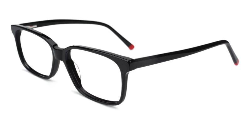 Black Lochloosa - Acetate Eyeglasses , SpringHinges , UniversalBridgeFit