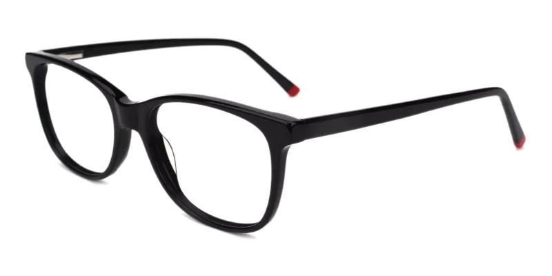 Black Hibbard - Acetate Eyeglasses , SpringHinges , UniversalBridgeFit