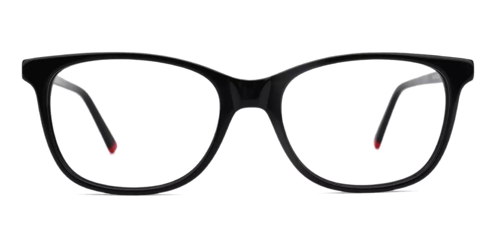 Hibbard Black Acetate Eyeglasses , SpringHinges , UniversalBridgeFit Frames from ABBE Glasses