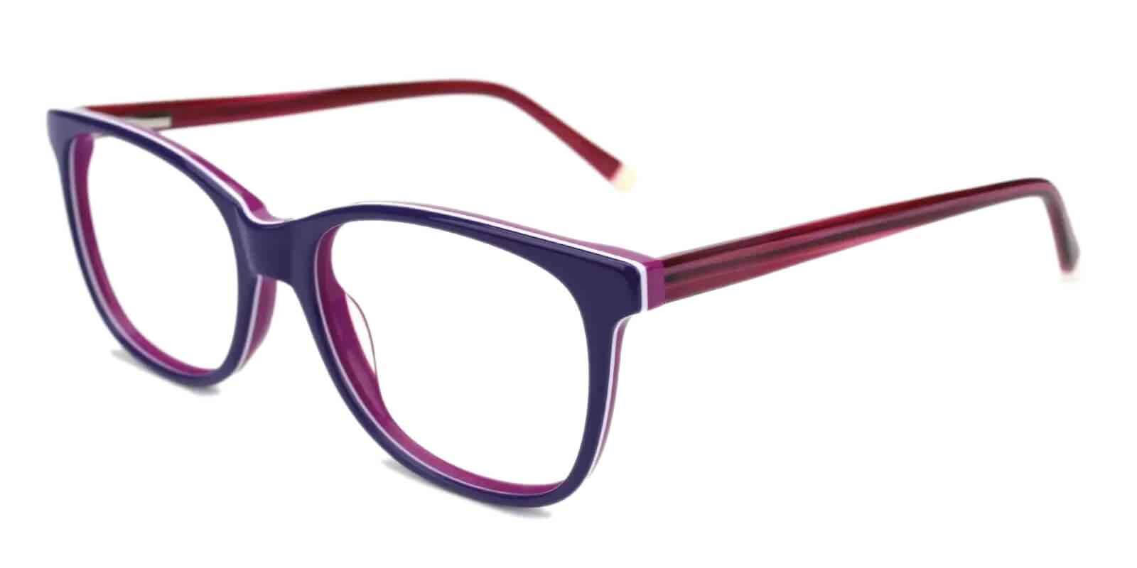 Hibbard Blue Acetate Eyeglasses , SpringHinges , UniversalBridgeFit Frames from ABBE Glasses