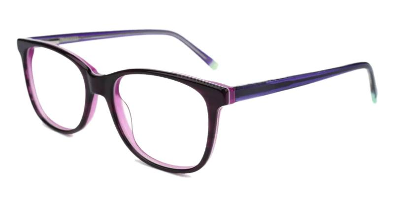 Purple Hibbard - Acetate ,Universal Bridge Fit