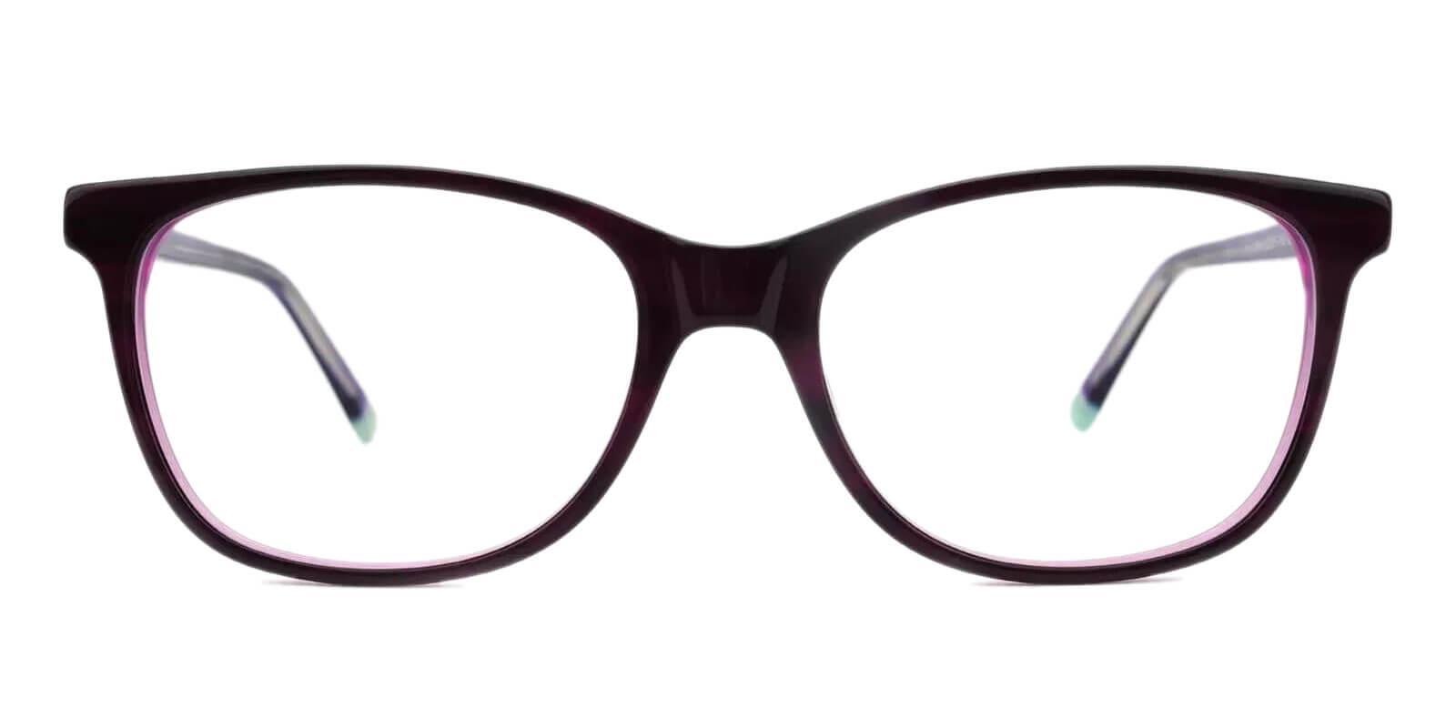 Hibbard Purple Acetate Eyeglasses , SpringHinges , UniversalBridgeFit Frames from ABBE Glasses