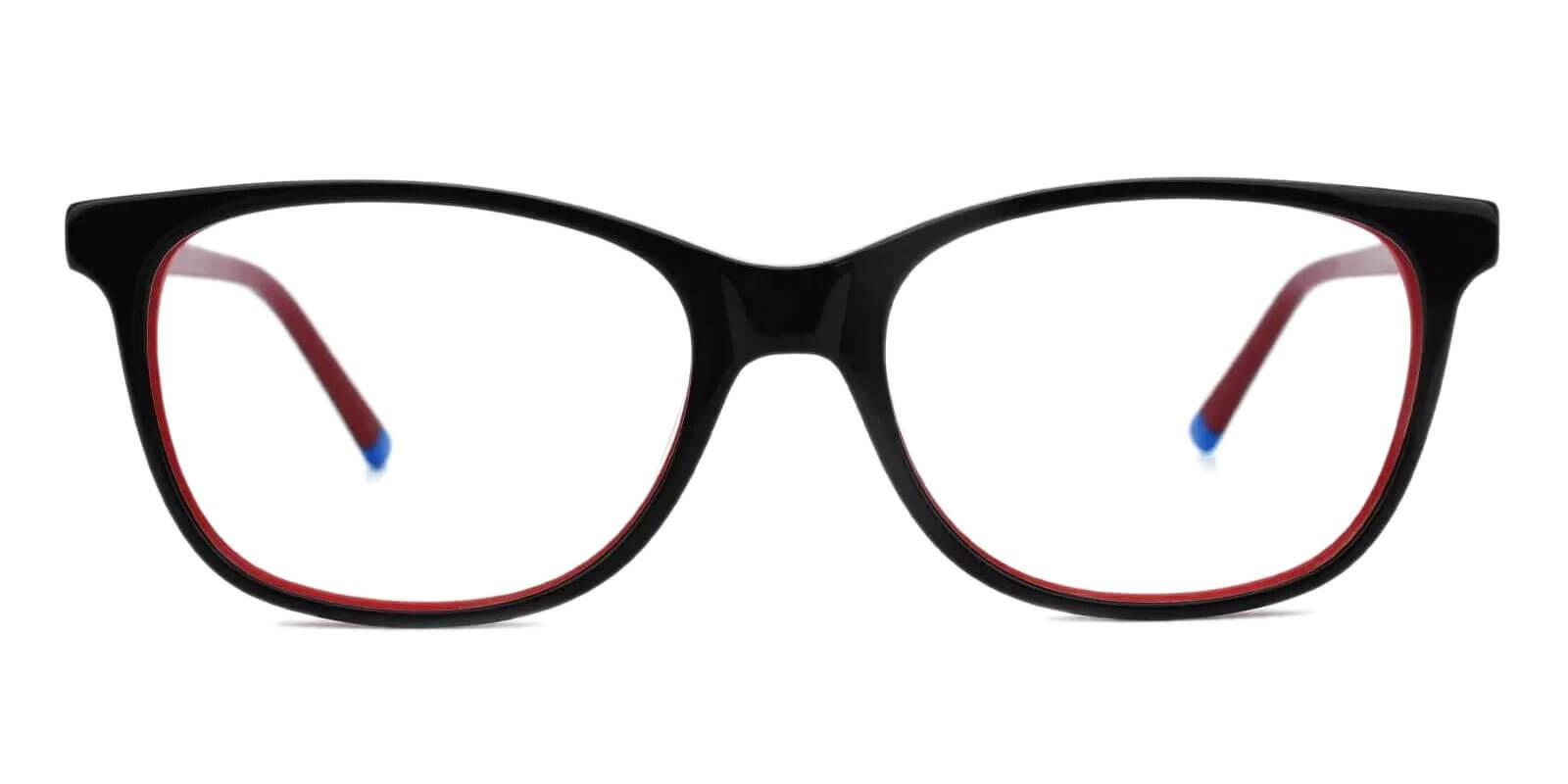Hibbard Red Acetate Eyeglasses , SpringHinges , UniversalBridgeFit Frames from ABBE Glasses
