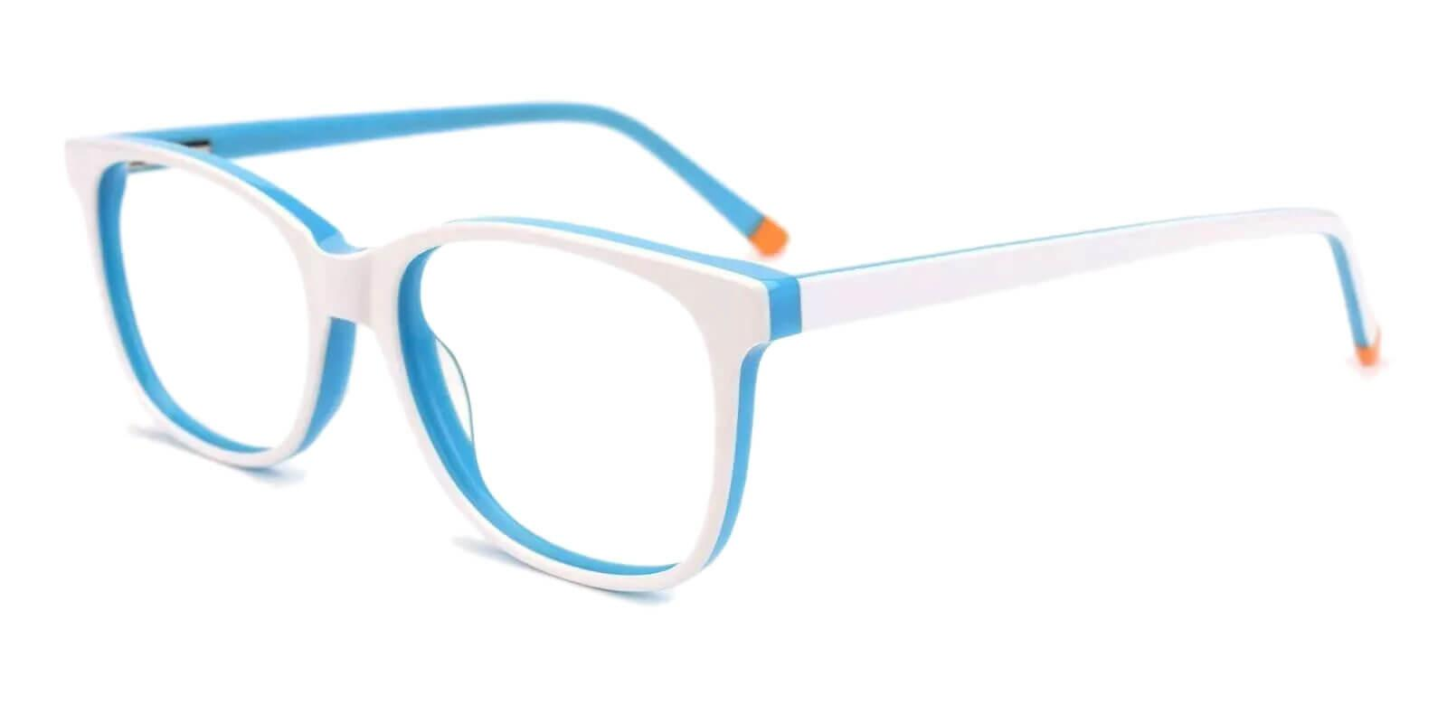 Hibbard White Acetate Eyeglasses , SpringHinges , UniversalBridgeFit Frames from ABBE Glasses