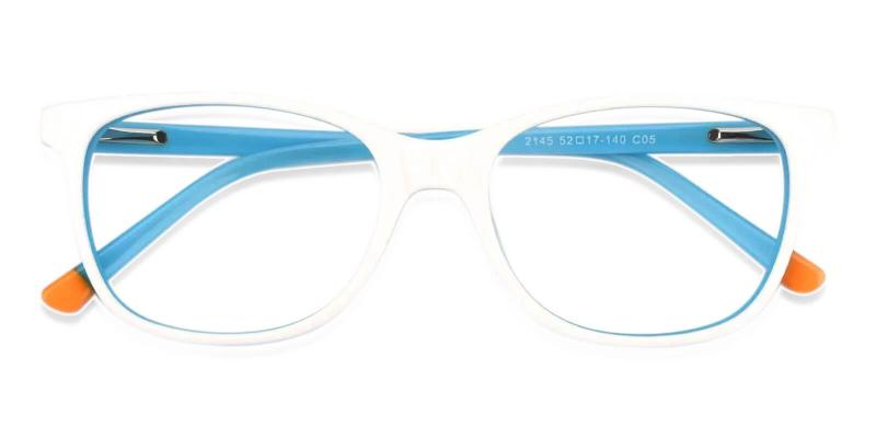 White Hibbard - Acetate Eyeglasses , SpringHinges , UniversalBridgeFit