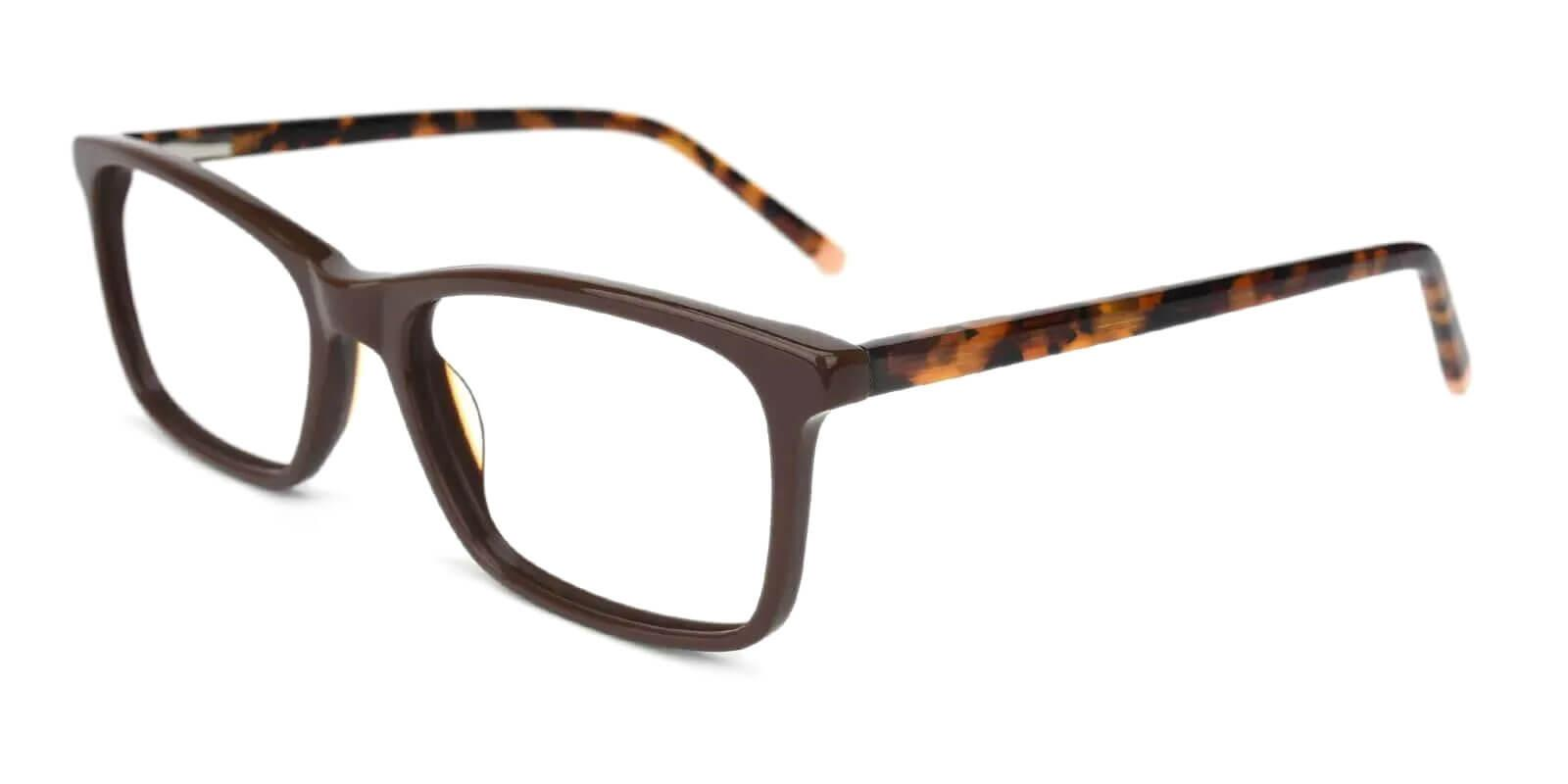 Quasqueton Brown Acetate Eyeglasses , SpringHinges , UniversalBridgeFit Frames from ABBE Glasses