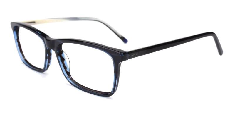 Striped Quasqueton - Acetate Eyeglasses , SpringHinges , UniversalBridgeFit