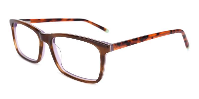 Tortoise Quasqueton - Acetate Eyeglasses , SpringHinges , UniversalBridgeFit