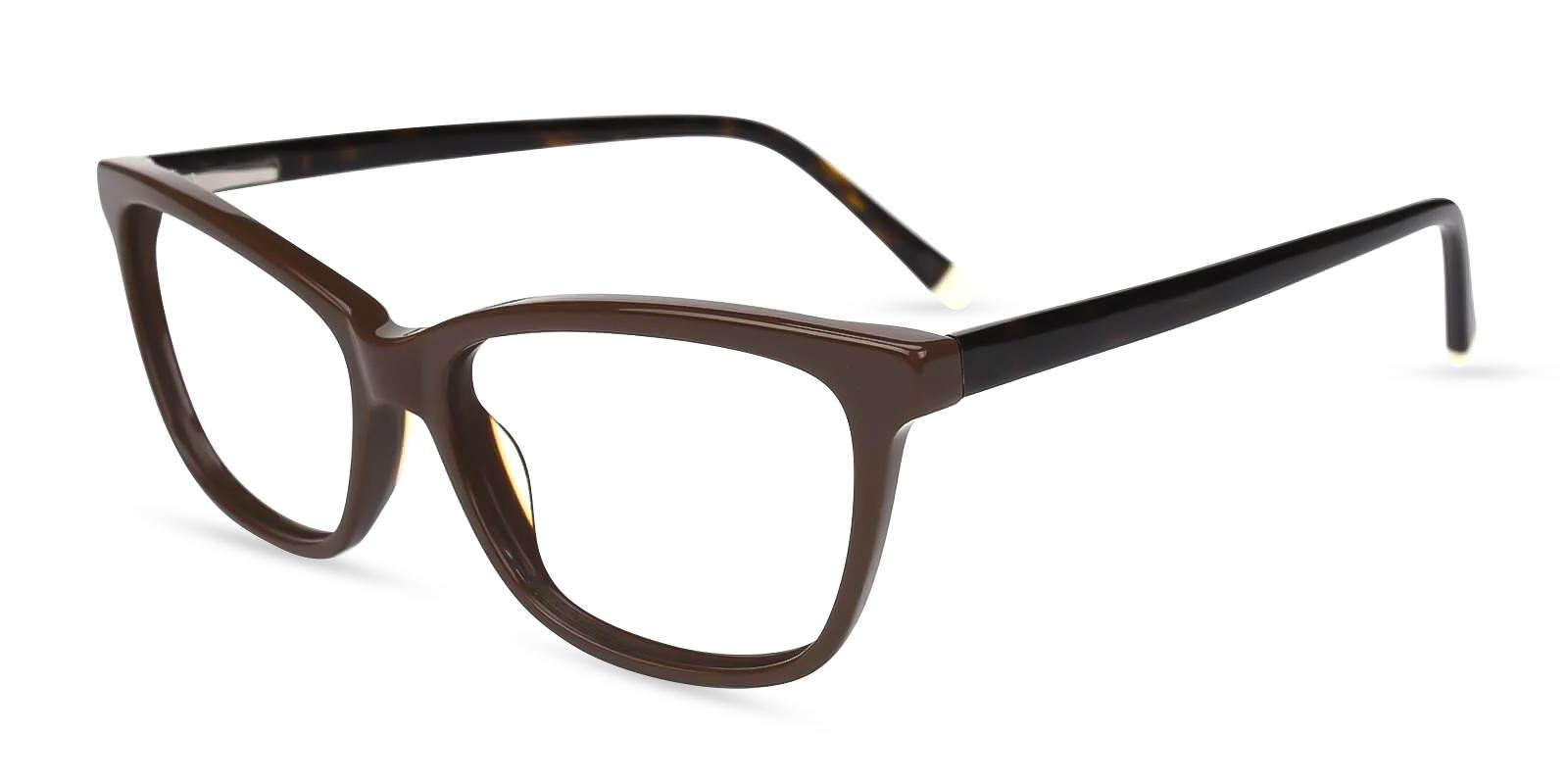 Zion Brown Acetate Eyeglasses , SpringHinges , UniversalBridgeFit Frames from ABBE Glasses