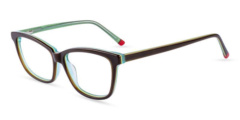 Green Zion - Acetate Eyeglasses , SpringHinges , UniversalBridgeFit