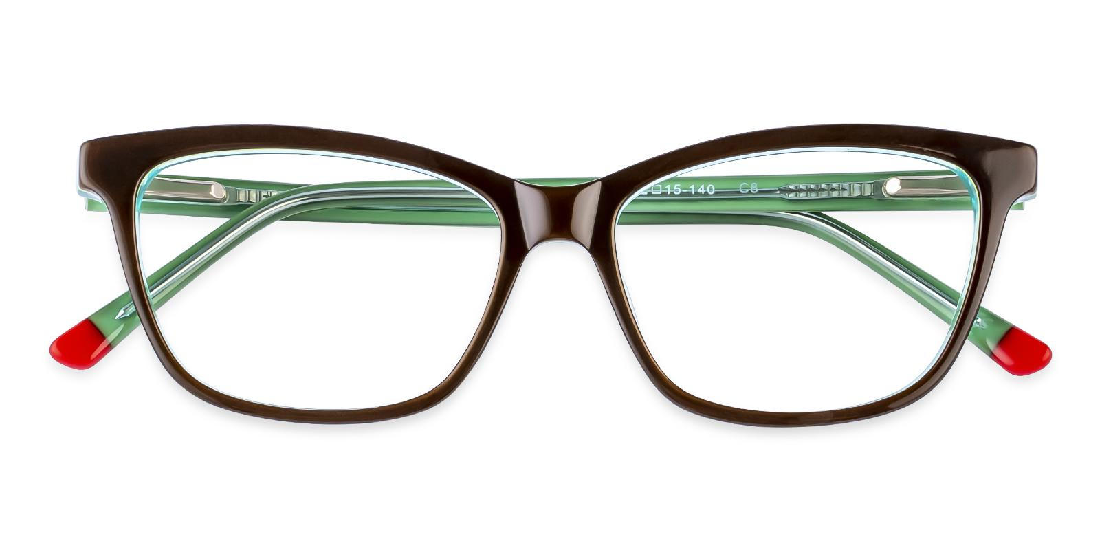 Zion Green Acetate Eyeglasses , SpringHinges , UniversalBridgeFit Frames from ABBE Glasses