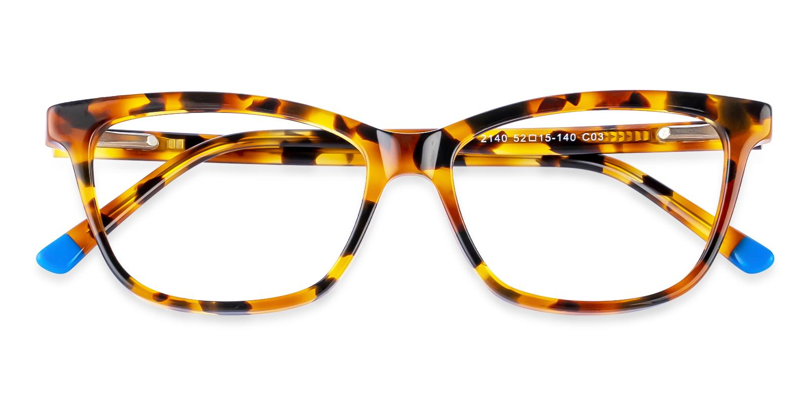 Zion Leopard Acetate Eyeglasses , SpringHinges , UniversalBridgeFit Frames from ABBE Glasses