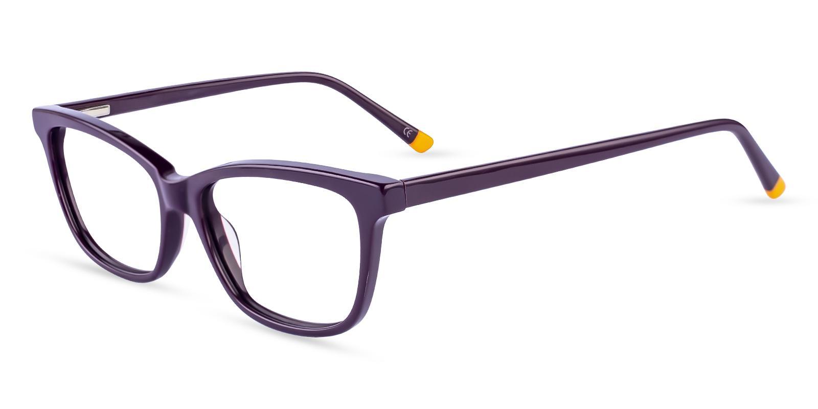 Zion Purple Acetate Eyeglasses , SpringHinges , UniversalBridgeFit Frames from ABBE Glasses
