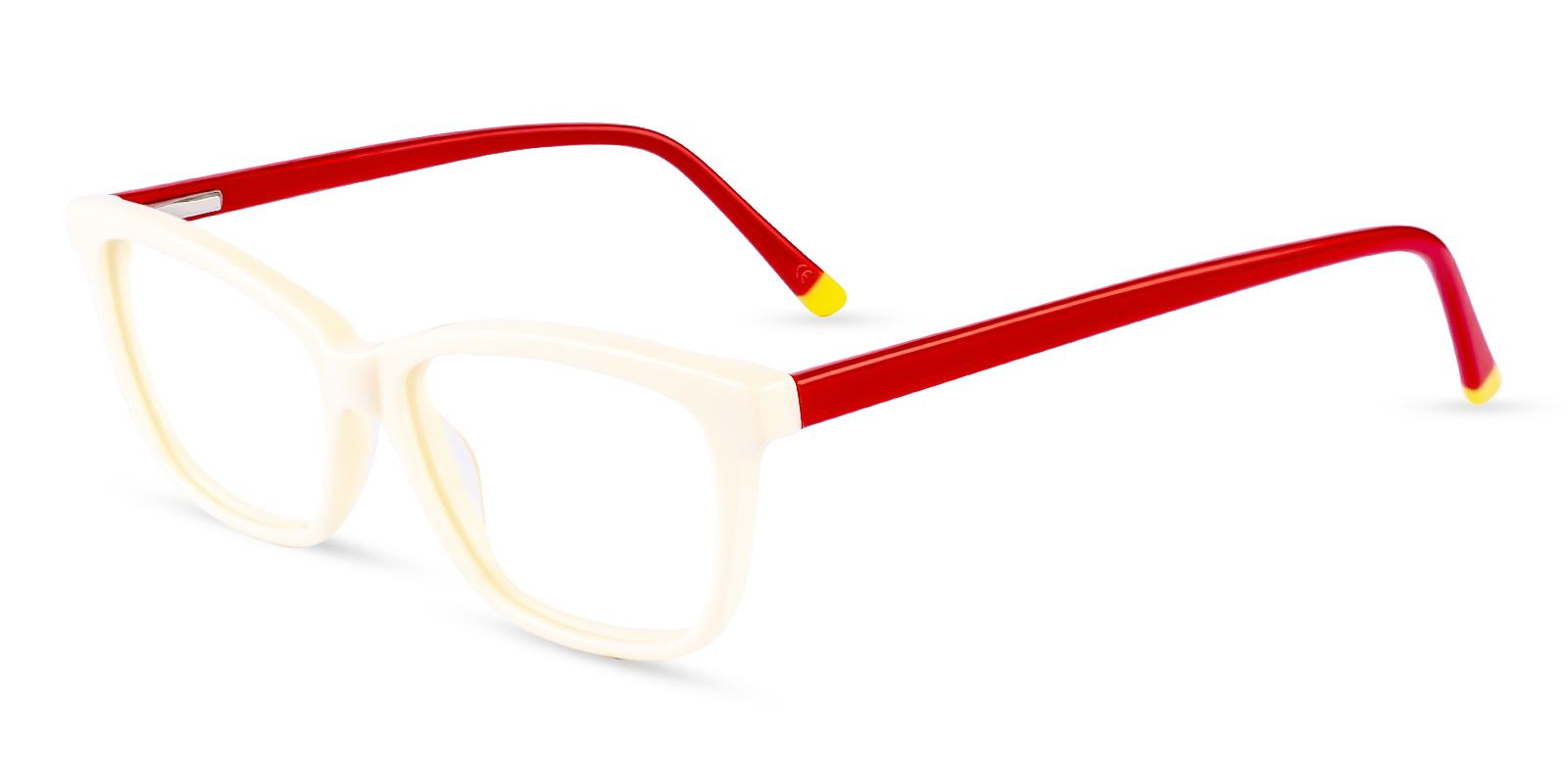 Zion White Acetate Eyeglasses , SpringHinges , UniversalBridgeFit Frames from ABBE Glasses