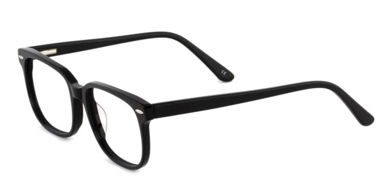 Black Christy - Acetate Eyeglasses , SpringHinges , UniversalBridgeFit