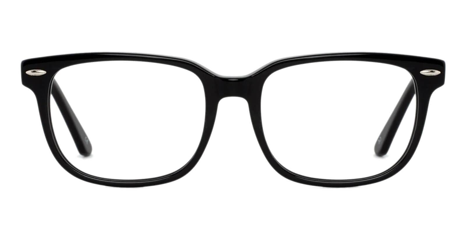 Christy Black Acetate Eyeglasses , SpringHinges , UniversalBridgeFit Frames from ABBE Glasses