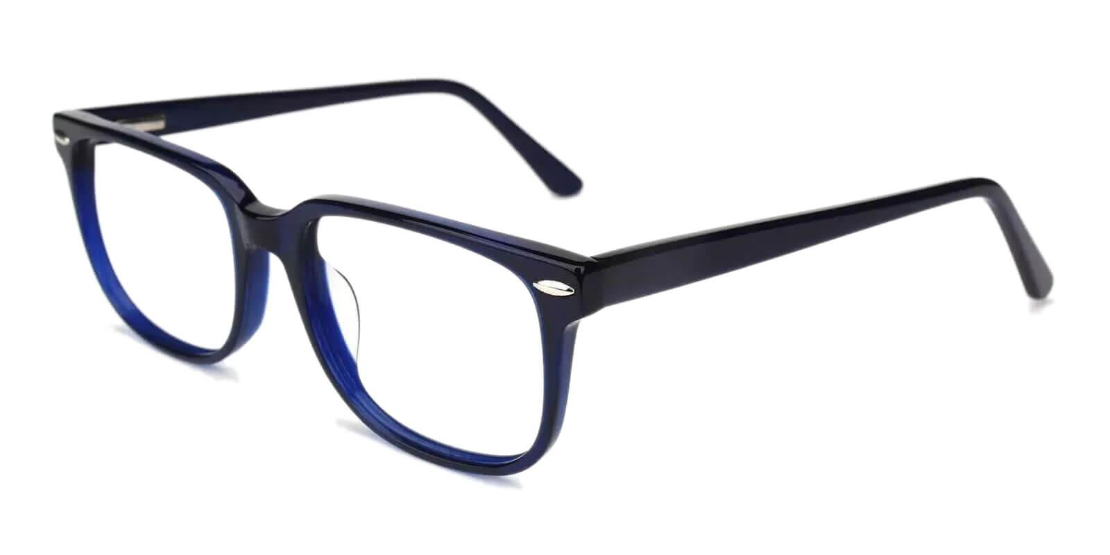 Christy Blue Acetate Eyeglasses , SpringHinges , UniversalBridgeFit Frames from ABBE Glasses