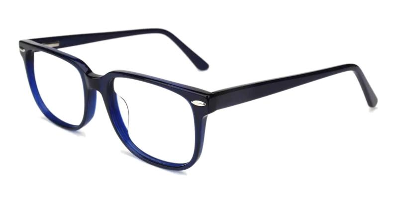 Blue Christy - Acetate Eyeglasses , SpringHinges , UniversalBridgeFit