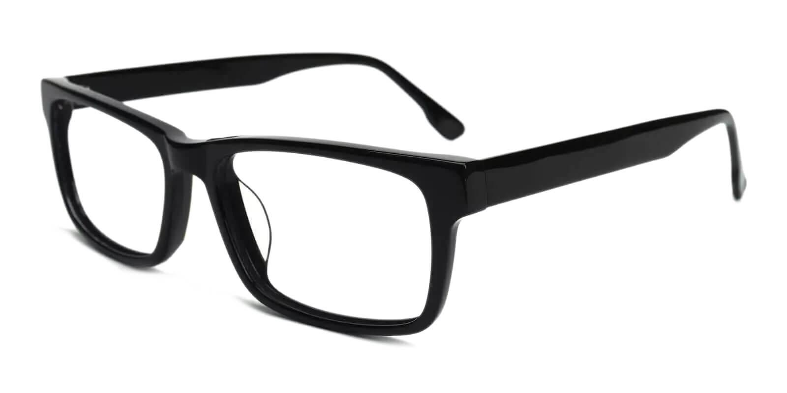 Mineral Wells Black Acetate Eyeglasses , UniversalBridgeFit Frames from ABBE Glasses