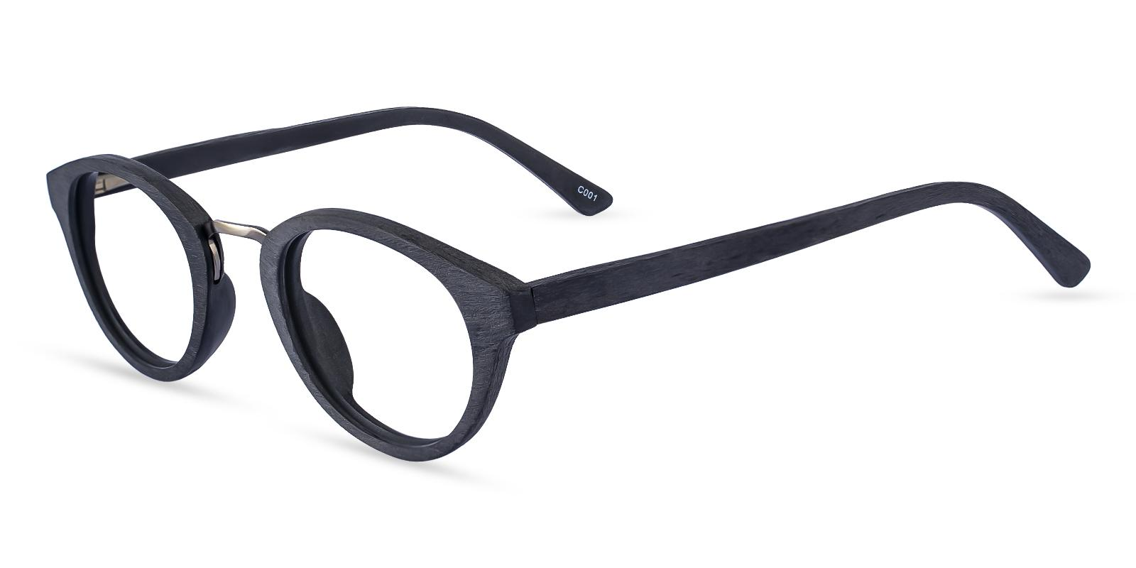New Haven Black Acetate Eyeglasses , SpringHinges , UniversalBridgeFit Frames from ABBE Glasses