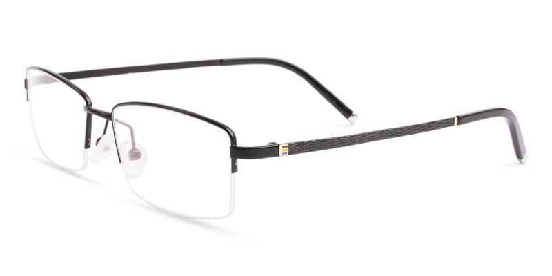 Black Liam - Titanium Eyeglasses , NosePads