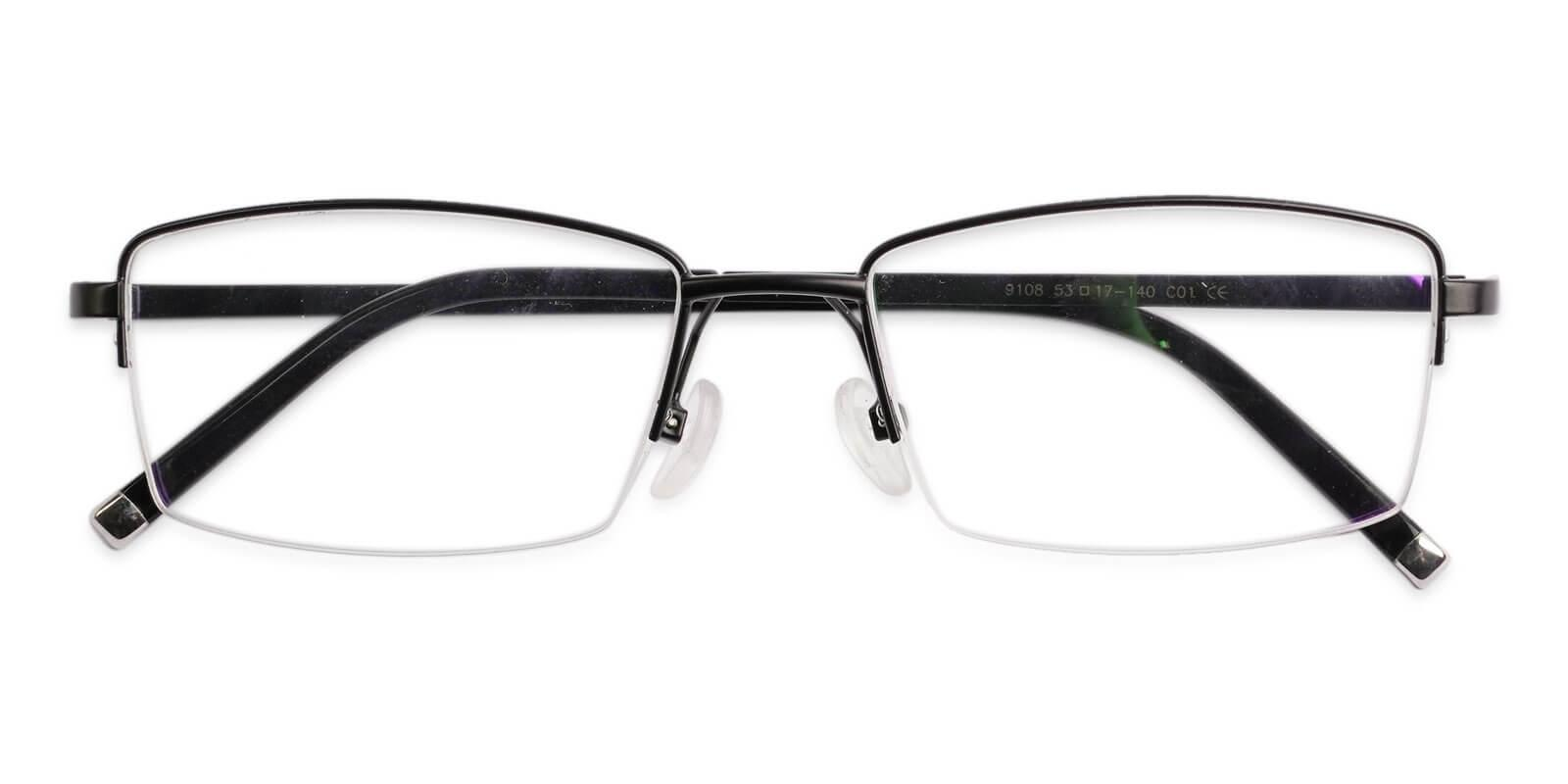 Liam Black Titanium Eyeglasses , NosePads Frames from ABBE Glasses