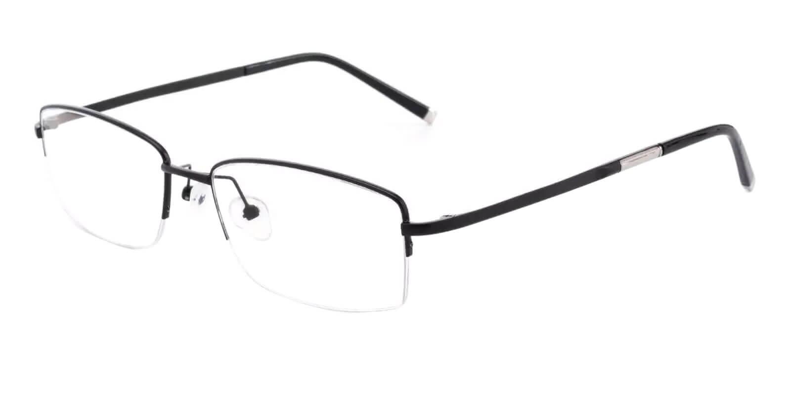 Noah Black Titanium Eyeglasses , NosePads Frames from ABBE Glasses